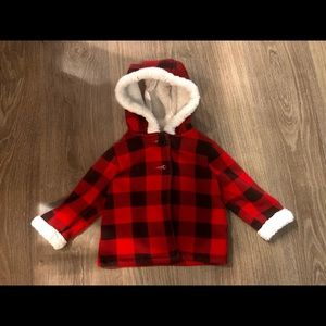 Baby Red & Black Checkered Jacket